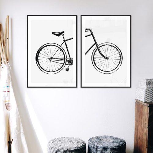 poster fiets illustratie