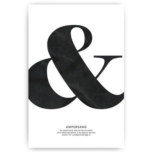 poster & teken ampersand