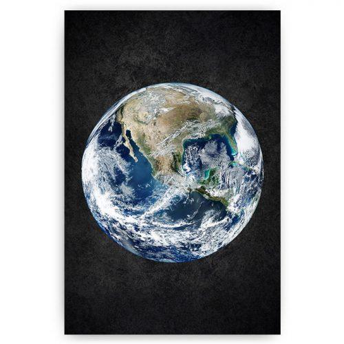 poster planeet aarde aardbol