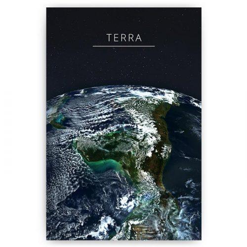 poster aarde terra op zwart