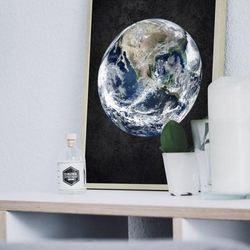poster aarde zwart