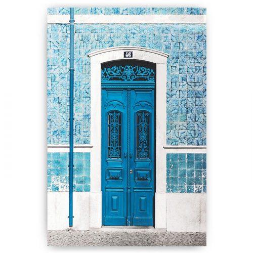 poster blauwe deur