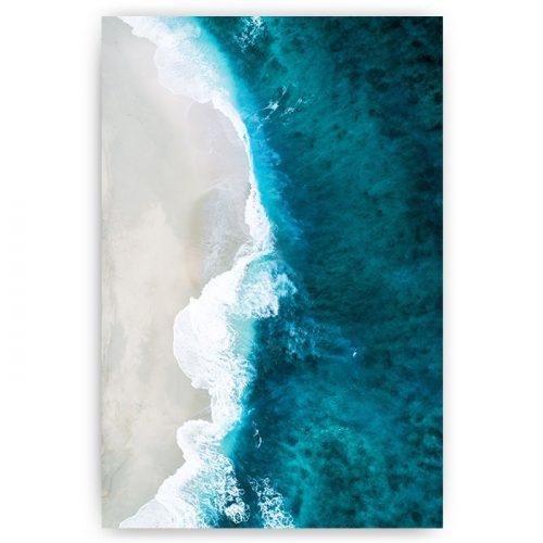poster blauwe zee met strand