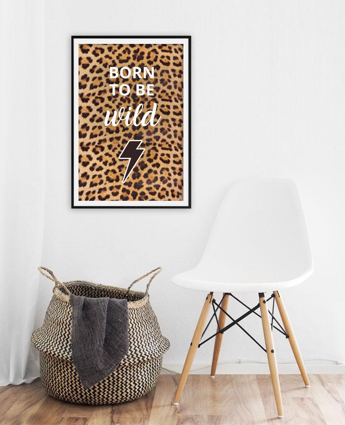 poster luipaard interieur