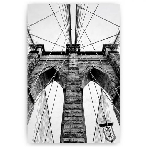 poster brooklyn bridge zwart wit