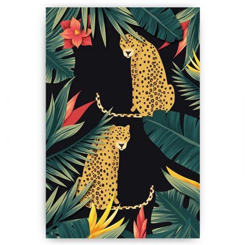 poster exotisch luipaard