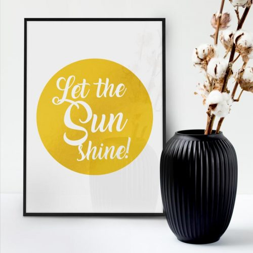 poster let the sun shine