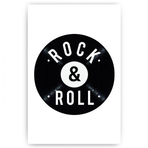 poster rock & roll vinyl