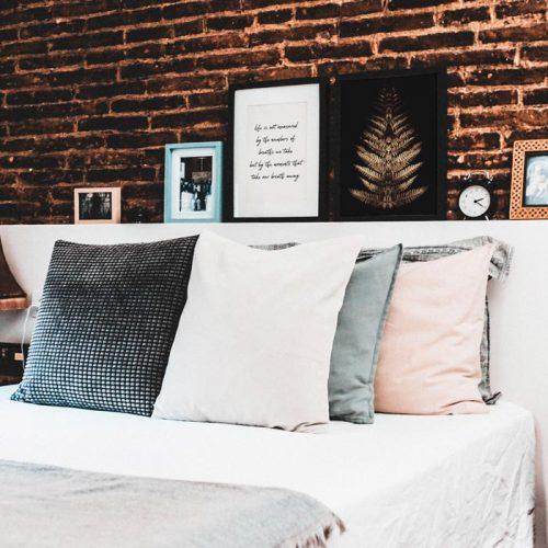 poster blad slaapkamer