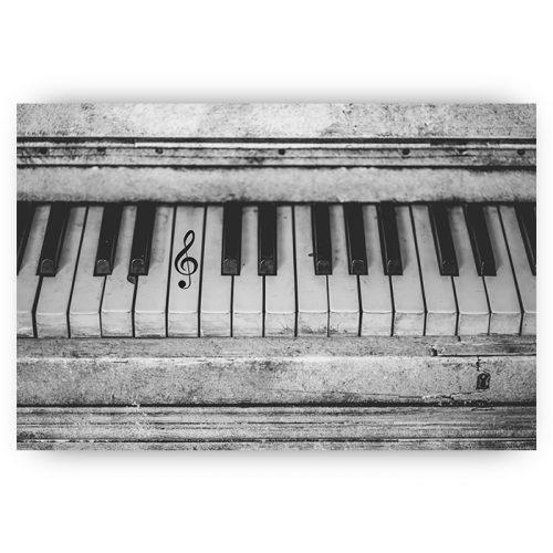 piano zwart wit