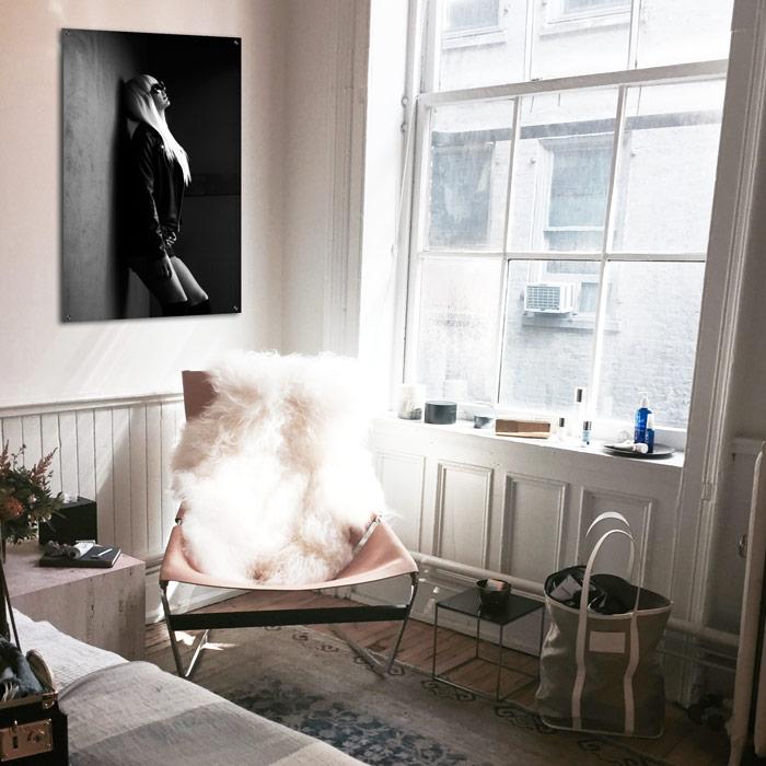 wanddecoratie vrouw zwart wit