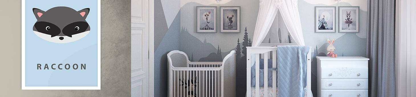 poster babykamer wasbeer