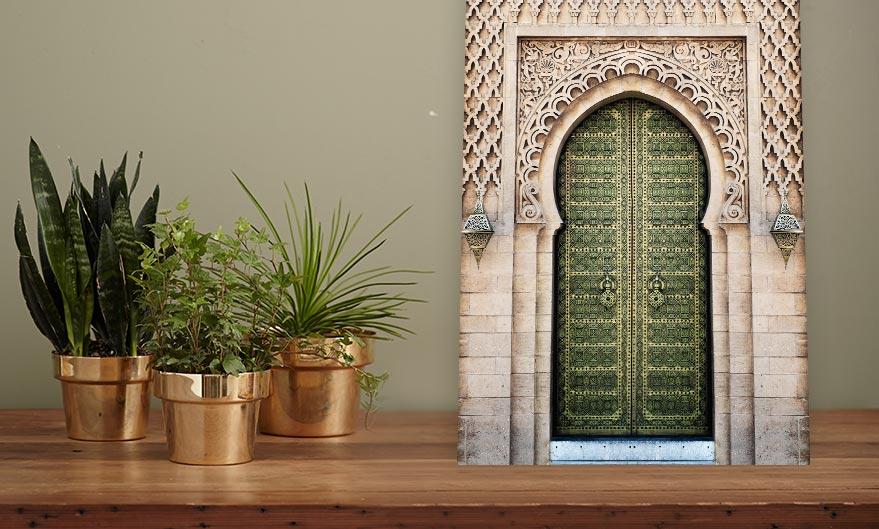 poster groene woonkamer muur