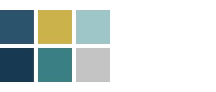 kleuren woonkamer blauw