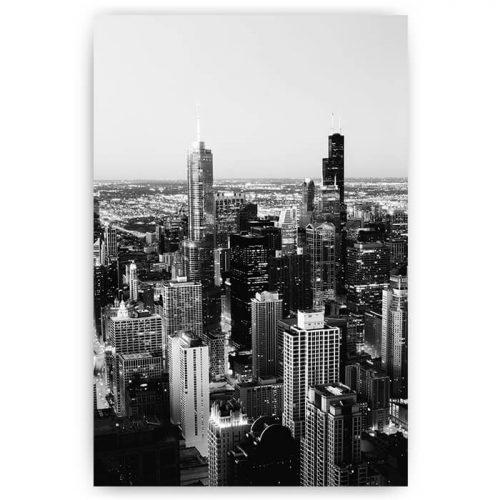 poster architectuur gebouwen stad