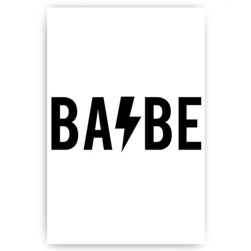 tekst poster babe bliksemschicht