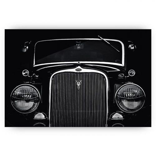 poster zwart wit auto