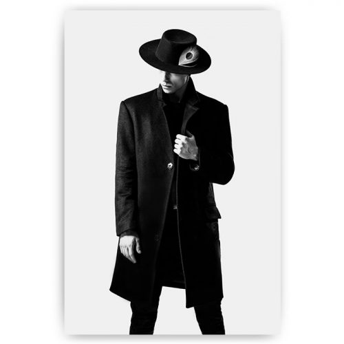 poster man hoed veer