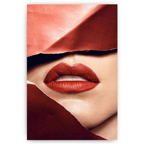 poster rode lippen