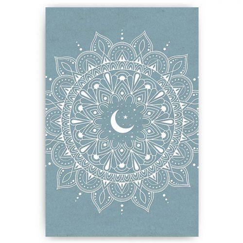 poster mandala maan sterren