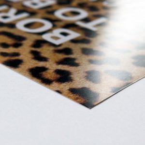poster papier zijaanzicht vierkant