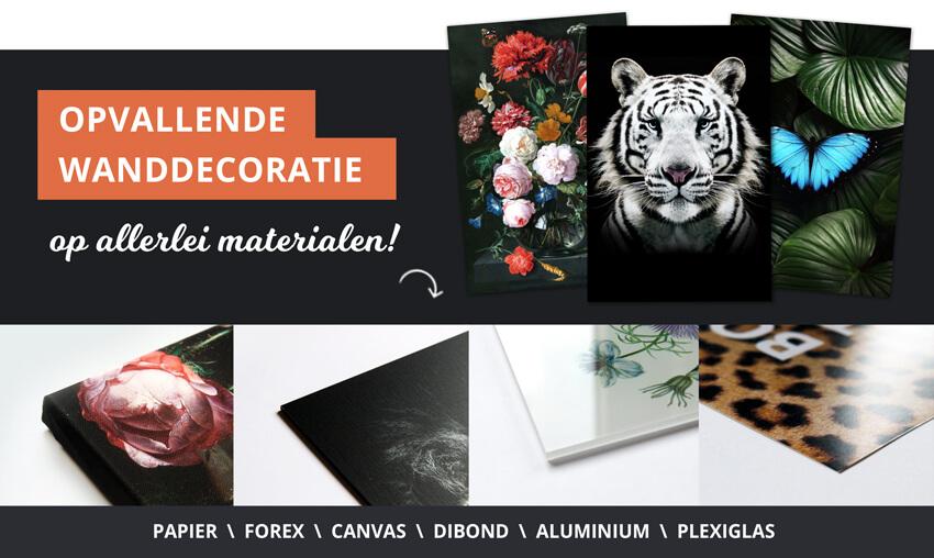 poster wanddecoratie materialen