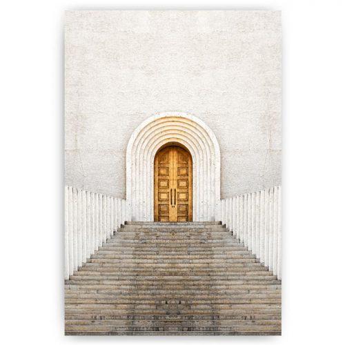 poster deur met trap
