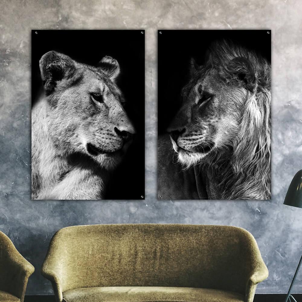 poster set leeuw leeuwin duo