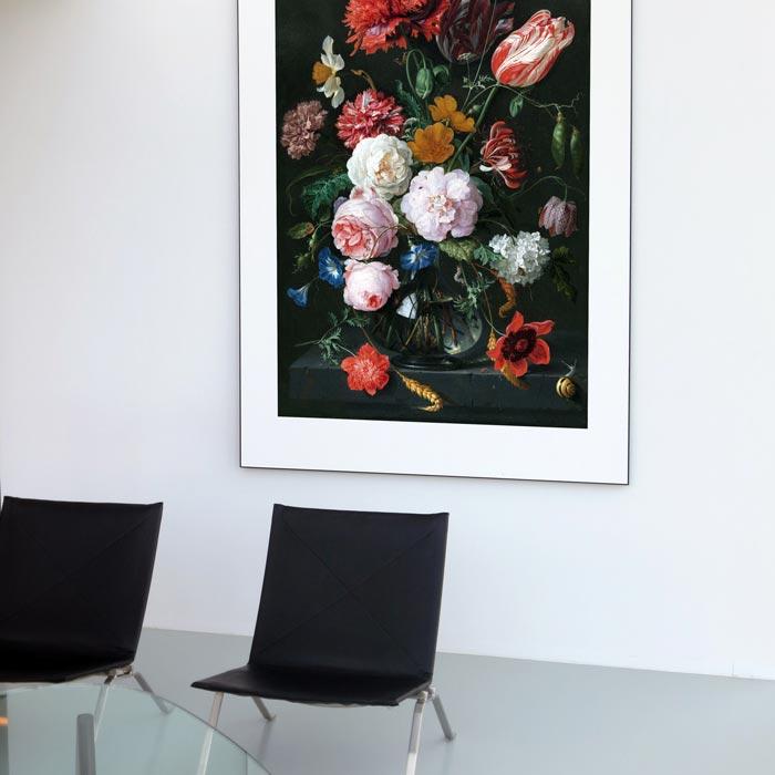bloemen schilderij bedrijfshal