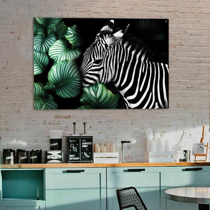 café schilderij zebra