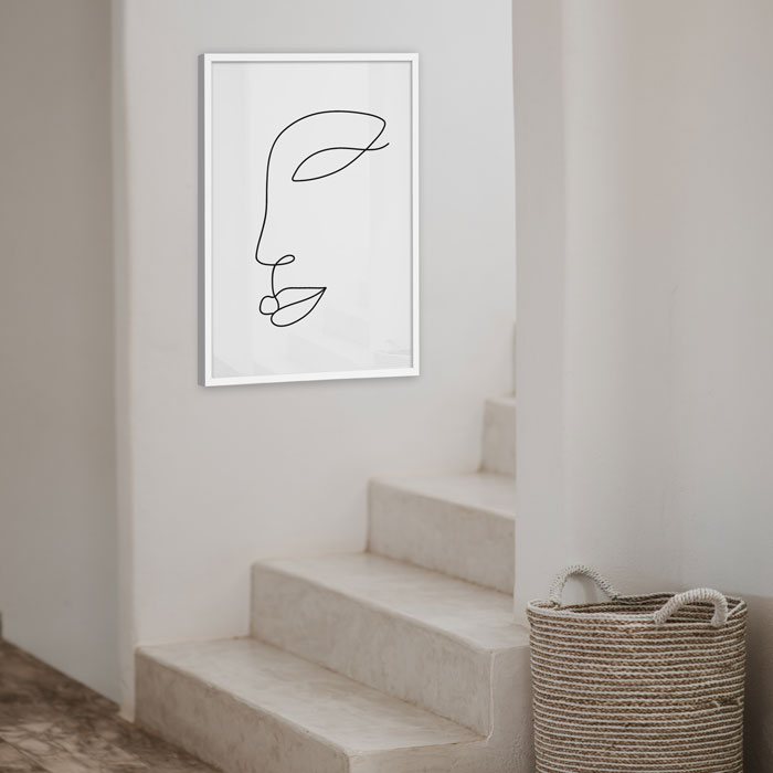poster gezicht lijn abstract