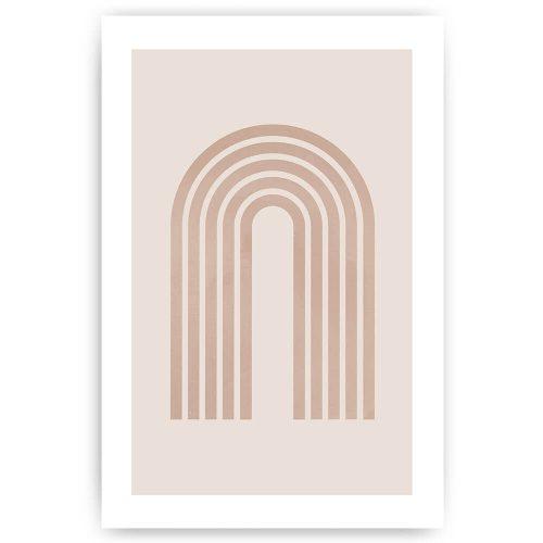 Poster abstracte bogen