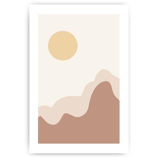 Poster abstracte oceaan