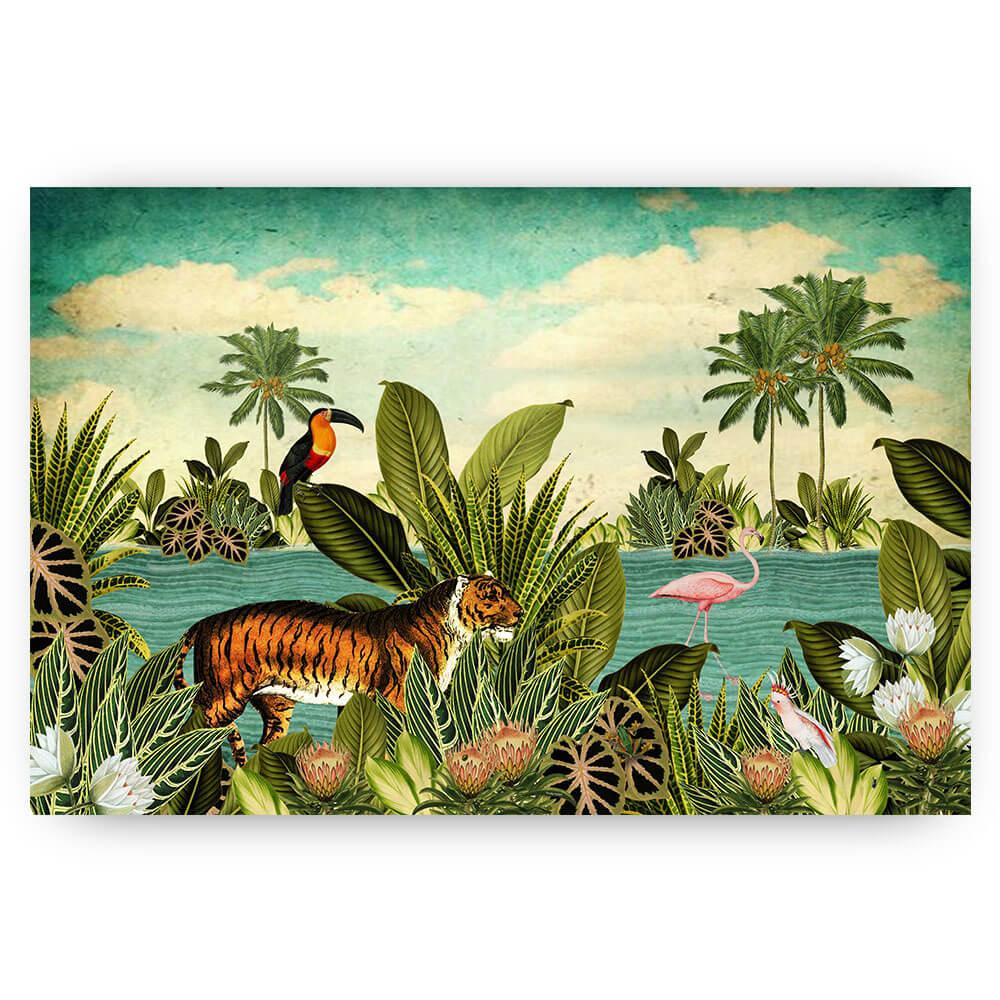 Schilderij illustratie tijger