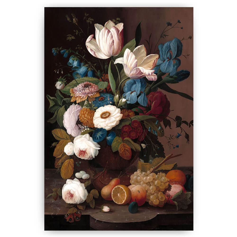 poster stilleven bloemen en fruit