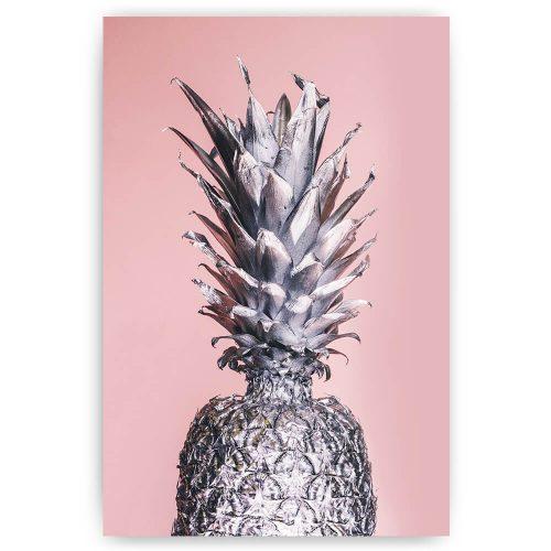 poster zilveren ananas
