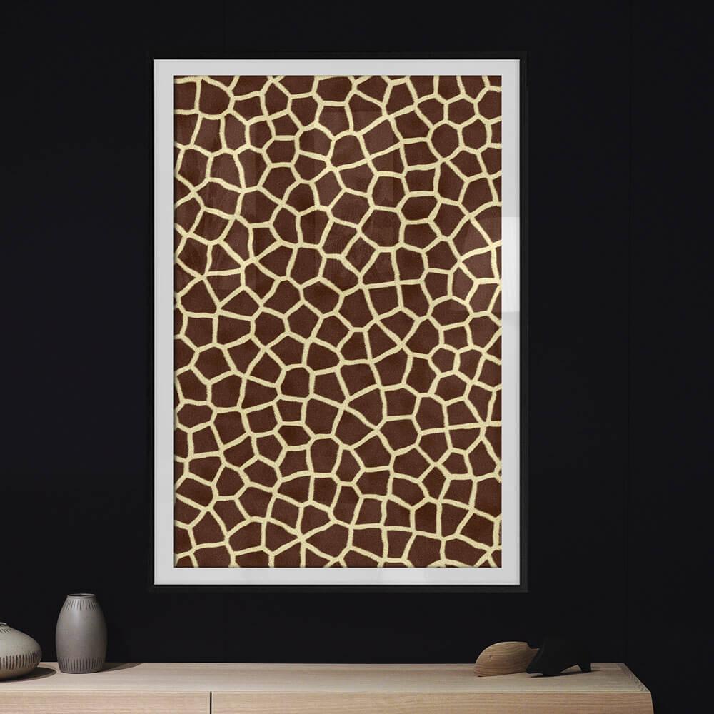 poster giraf dierenprint vacht