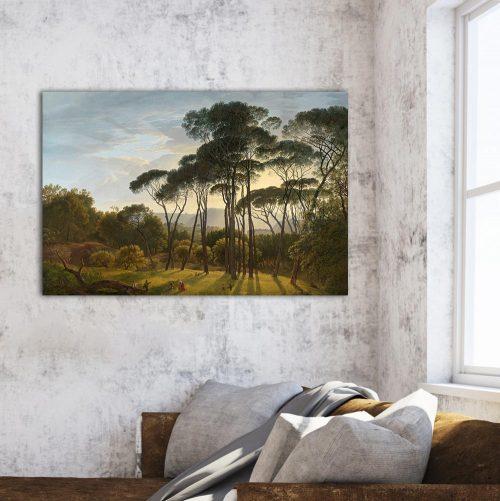 schilderij landschap bomen
