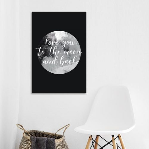 poster love you to the moon
