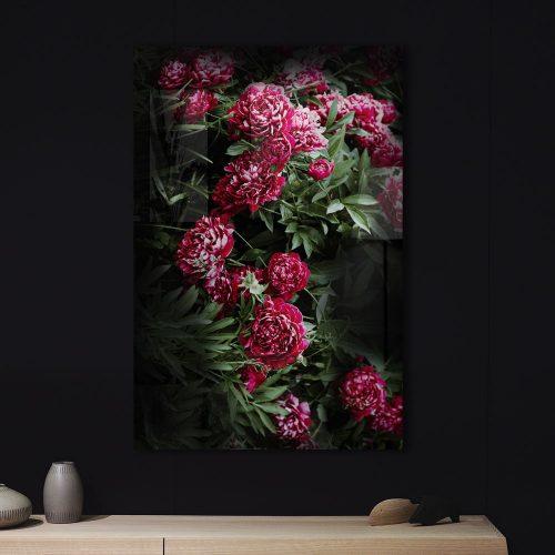 poster paarse bloemenstruik