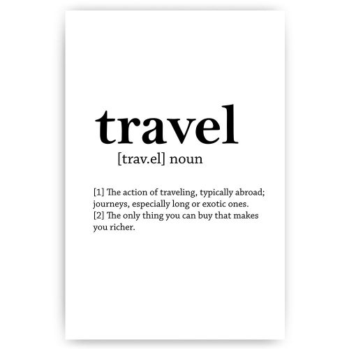 poster travel noun
