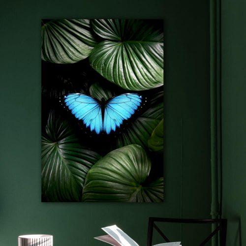 schilderij vlinder jungle