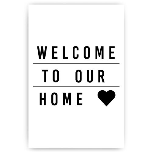 tekst welcome to our home