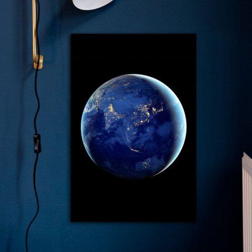 poster aarde wereldbol