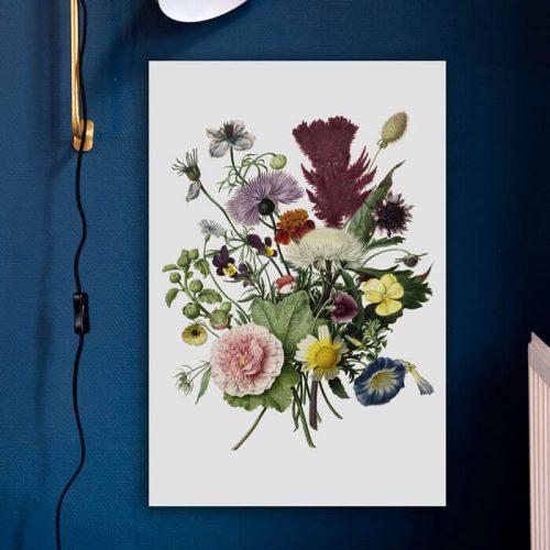 poster bloemen bos
