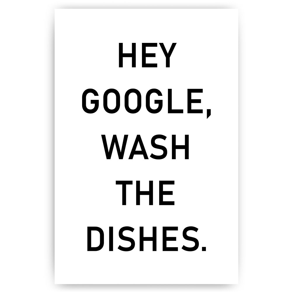 poster hey google wash the dishes
