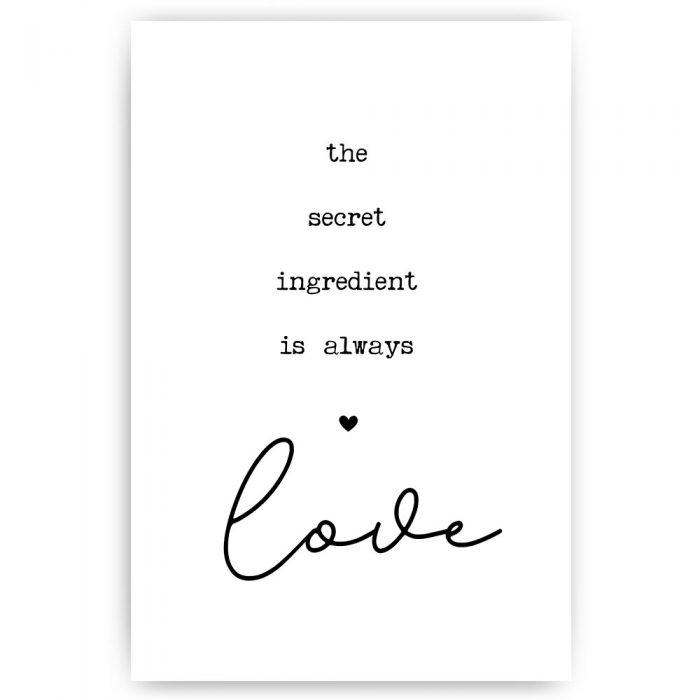 poster tekst love ingredient