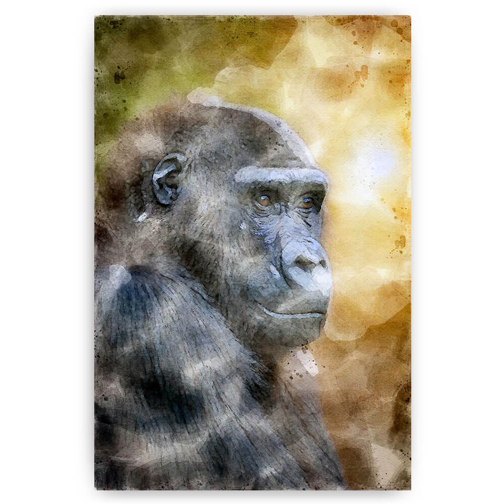 poster schilderij gorilla waterverf