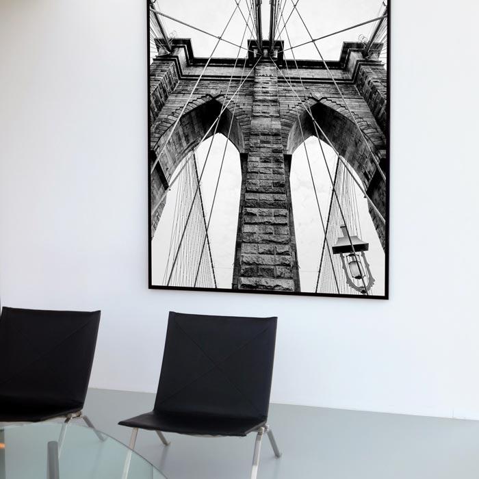 poster brookyln bridge akoestisch paneel