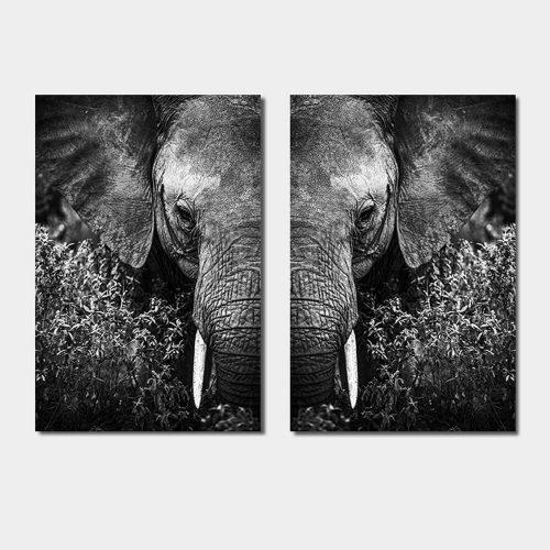 poster set kop olifant
